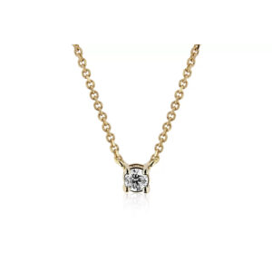 yellow gold necklace with diamond stone