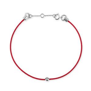 red srting bracelet with diamond charm